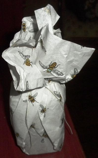 Packaged honey jar.